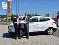 Flughafen Köln/Bonn setzt Brennstoffzellenfahrzeug Hyundai ix35 ein