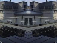 Photovoltaikanlage auf dem Dach des Parlaments-gebäudes in Belfast