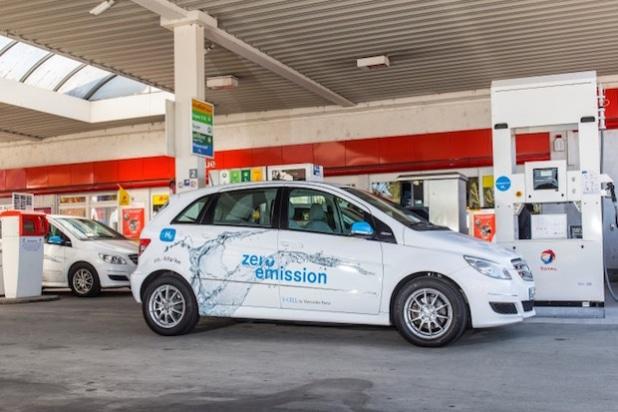 H2-Station Fellbach - Mercedes-Benz  B-Klasse F-CELL - Quelle: Daimler AG