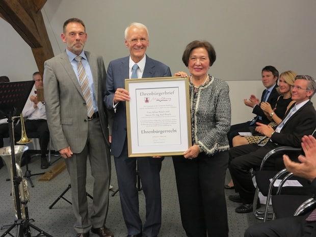Photo of Ayhan und Dr.-Ing. Karl Busch zu Ehrenbürgern ernannt