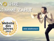 Website des Jahres: Dreifachsieg in Sicht?
