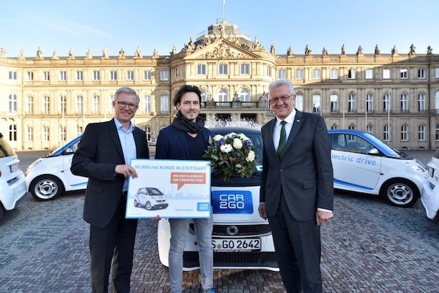 Photo of 50.000 car2go Kunden in Stuttgart