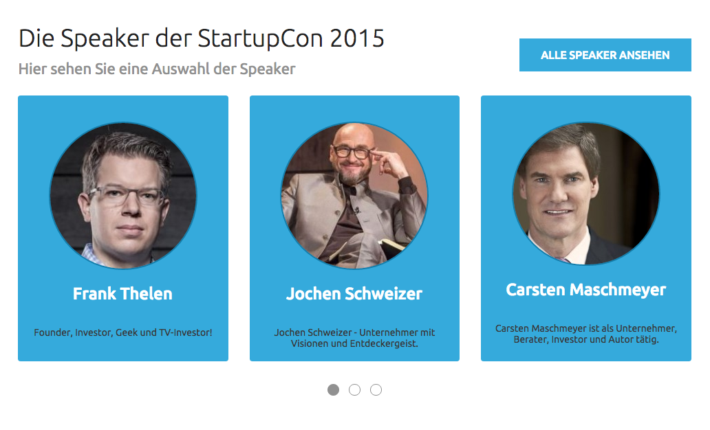 Top-Speaker auf der StartupCon Köln. Mittelstand-Nachrichten verlost 2 Gratis Eintrittskarten.