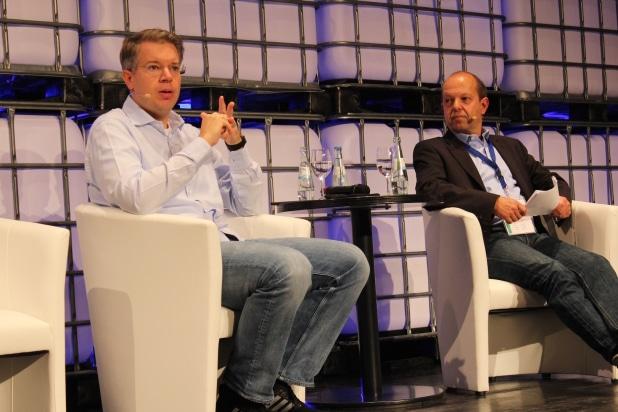 """Frank Thelen """"erdete"""" die Existenzgründer im Saal. Foto: Sven Oliver Rüsche (sor)"""