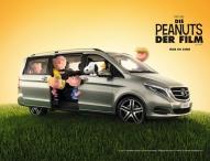 Beagle on Board: Snoopy fährt jetzt V-Klasse