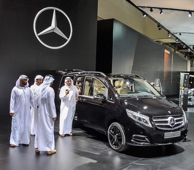 Die neue Mercedes-Benz V-Klasse auf der Dubai International Motor Show 2015 - Quelle: Daimler AG
