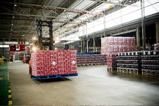 © Zetes / Zetes' Scanning-System an Coca-Cola Gabelstaplern