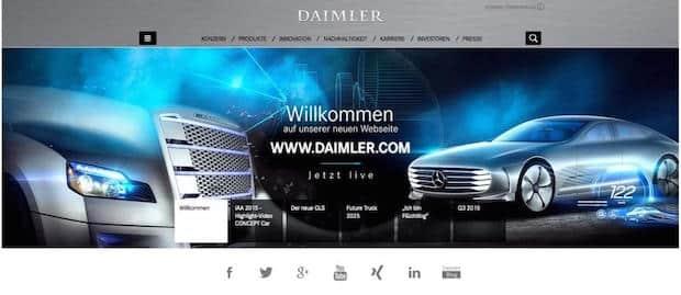 Bild von Die neue Daimler-Unternehmenswebseite