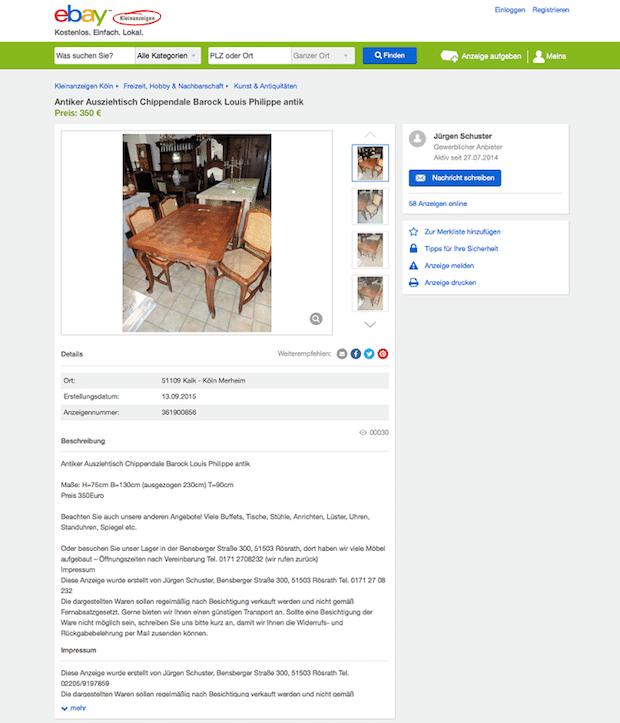 Bild von eBay Kleinanzeigen mit neuem Höchststand bei Angeboten und App-Downloads
