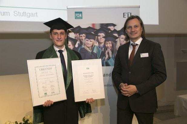 (v.l.n.r.) Ralph Schienbein, Alfred Lein, ETL AG Wirtschaftsprüfungsgesellschaft, Stuttgart (Foto: FOM/ Wilhelm Mierendorf)
