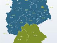 Abwanderung von Hochschulabsolventen in 12 Bundesländern