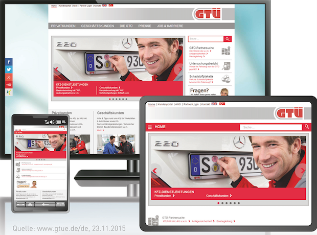 Photo of GTÜ relaunched Website mit SixCMS
