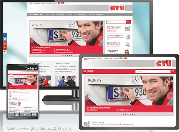 Bild von GTÜ relaunched Website mit SixCMS