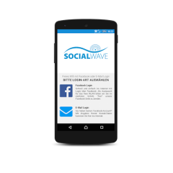 Socialwave Smartphone Screenshot - Quelle: etventure