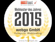 webgo zum Webhoster des Jahres 2015 gekürt