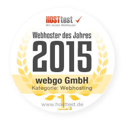 Bild von webgo zum Webhoster des Jahres 2015 gekürt