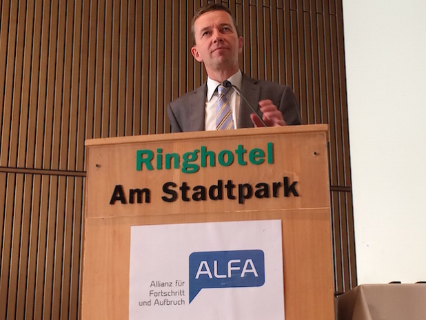 Bernd Lucke, ALFA Gründungsparteitag Lünen - Foto: ARKM/SOR