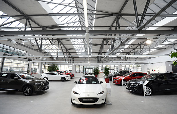 """Mazda Autohaus Häusler, München. Quelle: """"obs/Mazda/Mazda Motors Deutschland"""""""