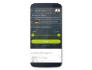Schnell, effizient, intuitiv – Mobile Stellensuche von Experteer