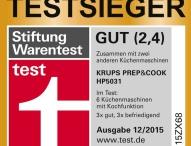 Krups Prep&Cook: Stiftung Warentest-Testsieger jetzt mit neuem Zubehör