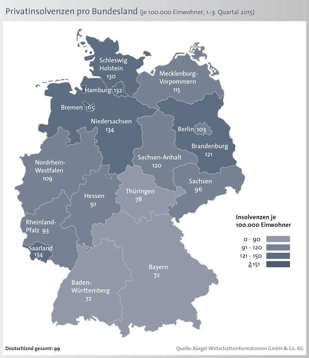 Bild von 7,2 Prozent weniger Privatinsolvenzen in Deutschland