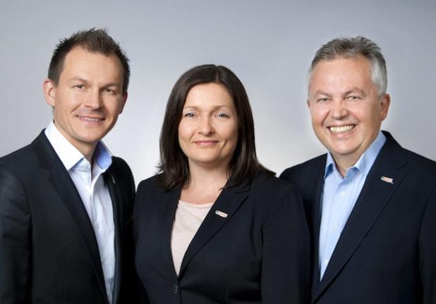 Führungstrio hajoona GmbH - Andrej Uschakow, Danilea Lipgens, Dirk Jakob - Quelle: Andrea Hahn Management Consulting / hajoona GmbH