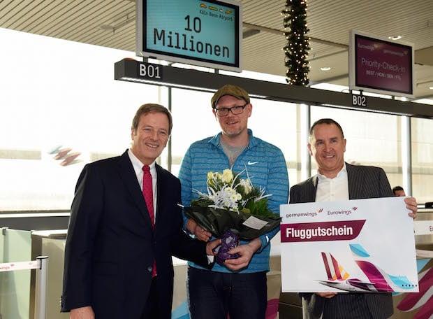 Photo of Flughafen Köln/Bonn begrüßt 10-millionsten Passagier
