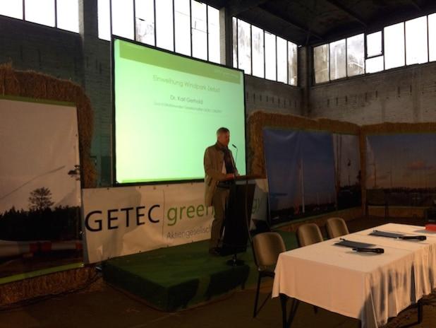 Dr. Karl Gerhold, Konzernchef der GETEC GRUPPE - Quelle: GETEC green energy AG