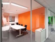 Heinkel Modulbau baut ein Bürogebäude in Containerbauweise für Bosch