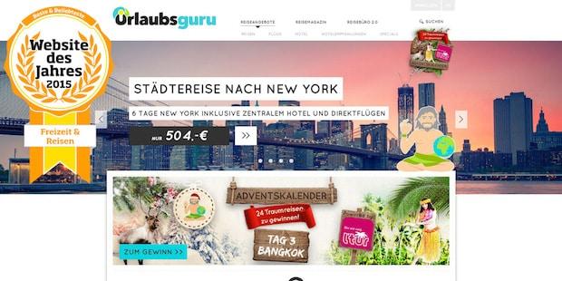 Bild von Urlaubsguru.de ist Website des Jahres: Startup gewinnt in 2 Wettbewerben