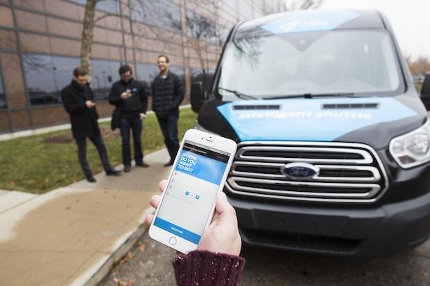"""Bild von Zubringerdienst für Ford-Mitarbeiter: Das Experiment """"Dynamic Shuttle Service"""" ist auf dem Weg zur Realität"""