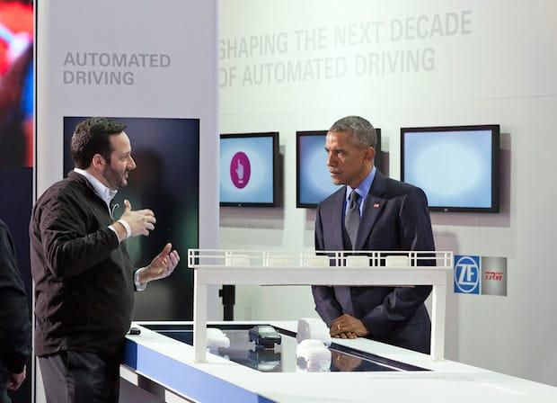 Bild von US-Präsident Obama besucht ZF-Stand auf der NAIAS in Detroit