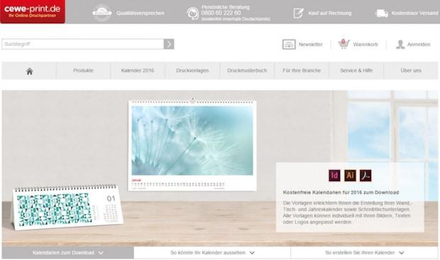 Photo of CEWE-PRINT.de bietet Kalendarien-Vorlagen für 2016