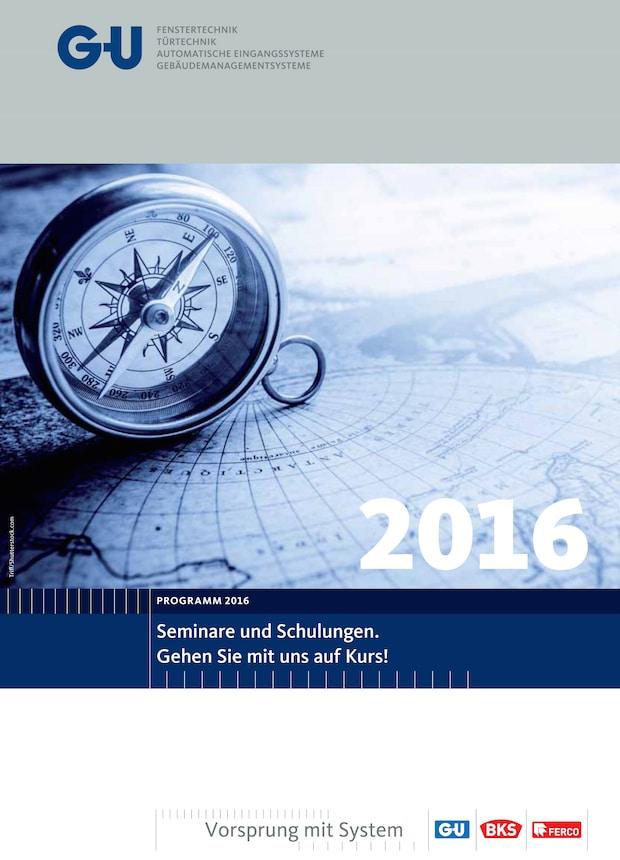 Bild von Qualifikation mit System – das Seminarprogramm 2016 von GU ist erschienen