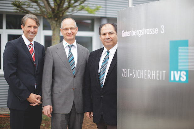 vrnl: Alexander Götz, Wolfgang Hänsel und Johann Müller führen die IVS Zeit + Sicherheit GmbH. - Quelle: IVS Zeit + Sicherheit GmbH