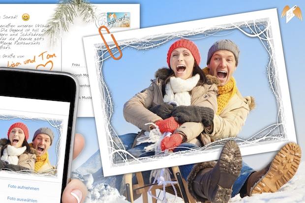 Photo of Direkt von der Skipiste persönliche Fotopostkarten verschicken