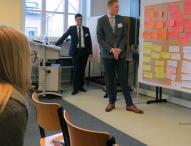 Studierende treffen Start-ups und Mentoren