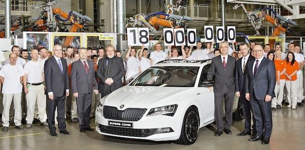 Bild von Jubiläum: SKODA produziert 18-millionstes Fahrzeug