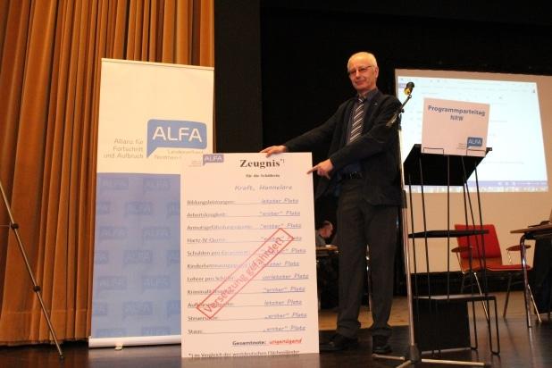 Noch nie Stand NRW so schlecht da, wie zu Zeiten der rot-grünen Landesregierung. ALFA Landeschef Prof. Ulrich van Suntum stellt ein unterirdisches Zeugnis für die Landesregierung aus.