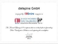US-Fachmagazin CIO zeichnet deutsche Software datapine als eine der vielversprechendsten Lösungen für Datenvisualisierung aus