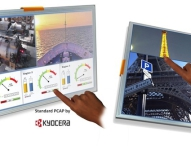 Kyocera präsentiert neue TFT-LCDs mit Projected Capacitive (PCAP) Touch Sensoren für industrielle Anwendungen