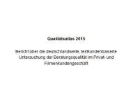 """IVA-Studie """"Beratungsqualität"""""""