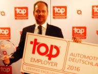 Carcoustics zum 3. Mal in Folge als Top Arbeitgeber Automotive ausgezeichnet
