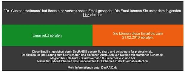Bild von DocRAID bietet sichere und einfache E-Mail-Verschlüsselung für Outlook