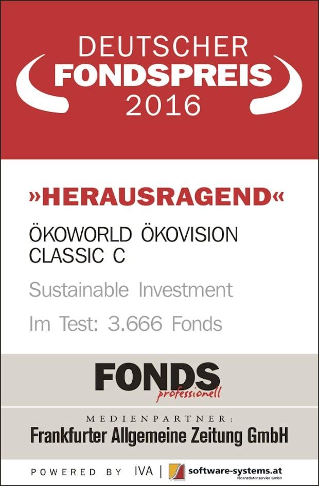 Photo of Herausragend: DEUTSCHER FONDSPREIS 2016 für ÖKOVISION CLASSIC