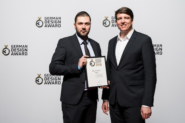 "Photo of German Design Award 2016: Sky Finder App mit ""Special Mention"" ausgezeichnet"