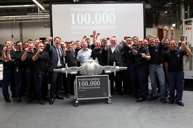 Photo of 100.000 innovative IPS-Achsen aus dem Mercedes-Benz Werk Kassel