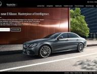 Mercedes-Benz startet 360°-Kampagne zur Markteinführung der neuen E-Klasse