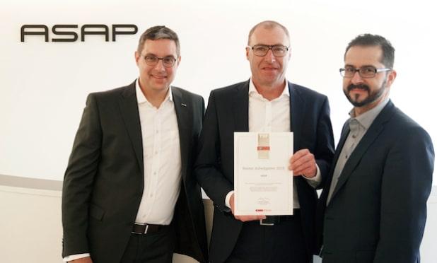 v.l.n.r: Robert Werner (COO Standort Ingolstadt), Michael Neisen (CEO ASAP Gruppe) und Christian Schweiger (COO Standort Ingolstadt) - Quelle: ASAP Holding GmbH