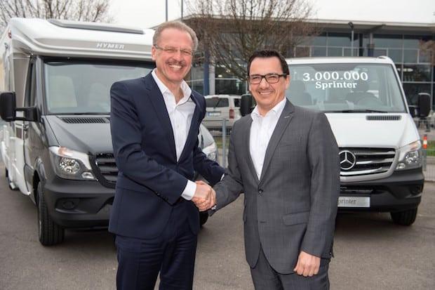 Photo of Dreimillionster Mercedes-Benz Sprinter geht an den Reisemobilhersteller Hymer